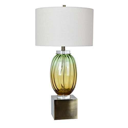 Crestview Collection Carlyle Yellow-Green Glass Jug Table Lamp - Carlyle Collection