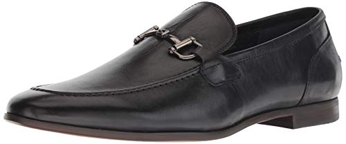 Leather Horse Bit Loafers - Steve Madden Men's DEBINAIR Loafer, Black Leather, 12 M US