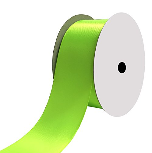 Duoqu 1-1/2 inch Wide Double Face Satin Ribbon 25 Yards Key Lime ()