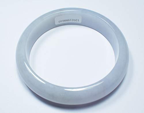 gojade Certified Light Lavender 100% Natural A Jade Jadeite Bangle Bracelet 58.6 mm 手镯 702060