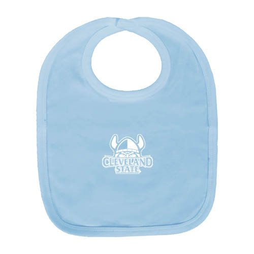 Cleveland State Light Blue Baby Bib 'Official Logo' by CollegeFanGear