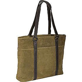 Scully Suede Computer Tote - Black
