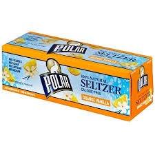 Best polar orange vanilla seltzer