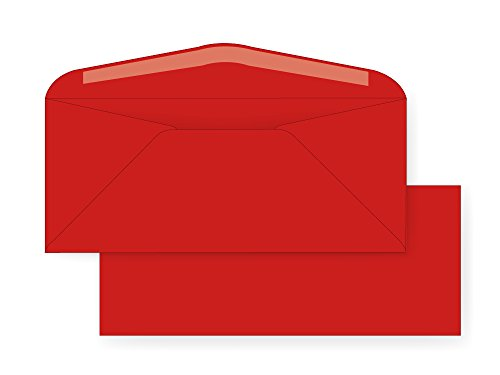 #10 Regular Envelope - 24# ReEntry Red (4 1/8 x 9 1/2) - Astrobright Color Series (Box of ()