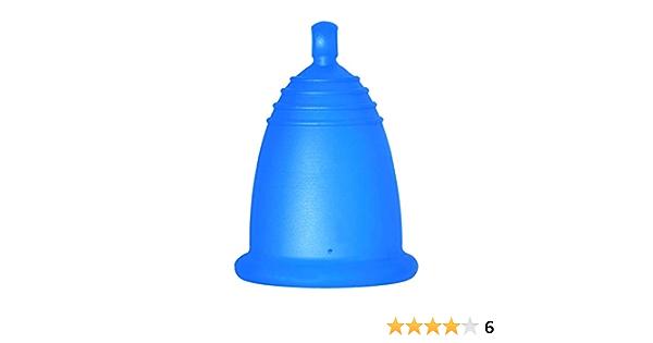 MeLuna Classic Copa Menstrual, Bola, Azul, Talla L - 1 Unidad