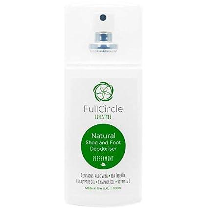FullCircle Lifestyle - Ambientador en espray para pies y zapatos, 100 ml, extrafuerte,