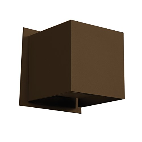 Access Lighting 20399LED-BRZ Square LED 4-Inch Height Wall Sconce Finish, Bronze