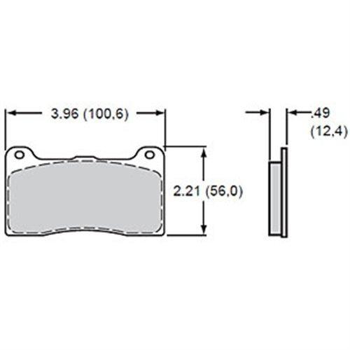 Wilwood Brake Components - Wilwood 150-9136K Caliper Type Brake Pad Set, 4 Pack