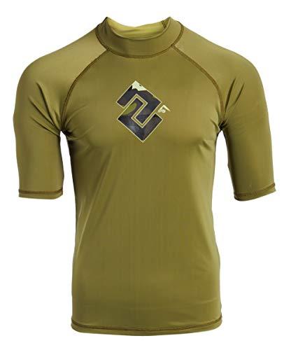 - Kanu Surf Men's Paradise UPF 50+ Short Sleeve Sun Protective Rashguard Swim Shirt, Surf Camo Olive, Small