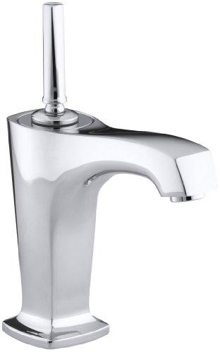 Single 4 Margaux Cp - KOHLER K-16230-4-CP Margaux Single Control Lavatory Faucet, Polished Chrome