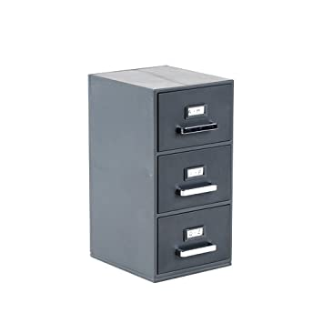 Mini Filing Cabinet Business Card Holder Amazon Office Products