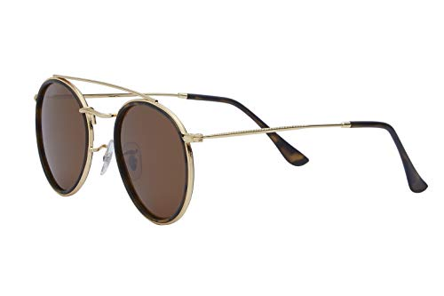 Mirrored Reflective Sunglasses Mirror Wire Rimmed Metal Frame Black Grey Brown ()