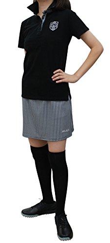 7456 LL千鳥柄スカート アンダーパンツ付 大きいサイズ ポケット4か所 ウエスト総ゴム ポンチ デルソル