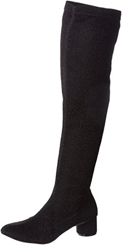 Mujer Para Lollipops 001 Alastic Botas Camperas High black Negro Boots xqqvYwfnP