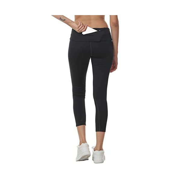TRUEREVO Women's Stretch Dryfit 7/8th Legging with Waist Phone Pocket