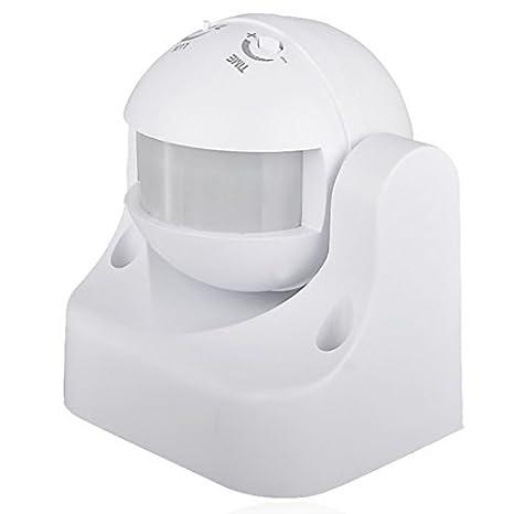 Sensky SK039 Interruptor Sensor de movimiento por infrarrojos, color blanco, IP44, pared o