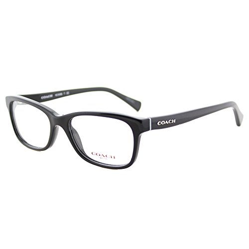 Coach HC 6089 5002 Black Plastic Rectangle Eyeglasses - Womens Coach Frames