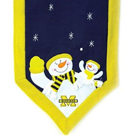 SC Sports Michigan Wolverines Snowman Table Runner