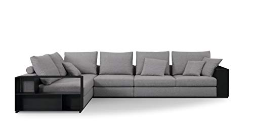 Furniture.Agency Leone 2-Piece L-Shape Sectional Left Corner, Grey