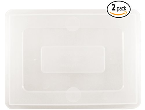 Aluminum Dough Pan - Aluminum Quarter Size Baking Sheet Pans Lids with Custom Dough Scraper, 9.5 Inch by 13 Inch, 2-Pack