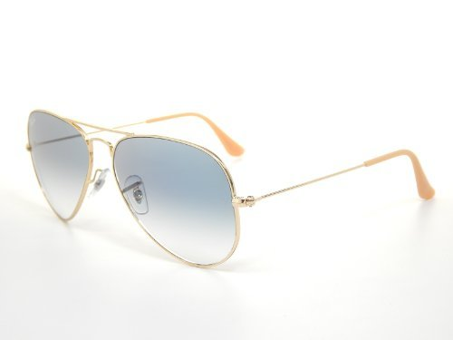New Ray Ban Aviator RB3025 001/3F Arista/Crystal Gradient Light Blue 55mm - Stores Bans Ray