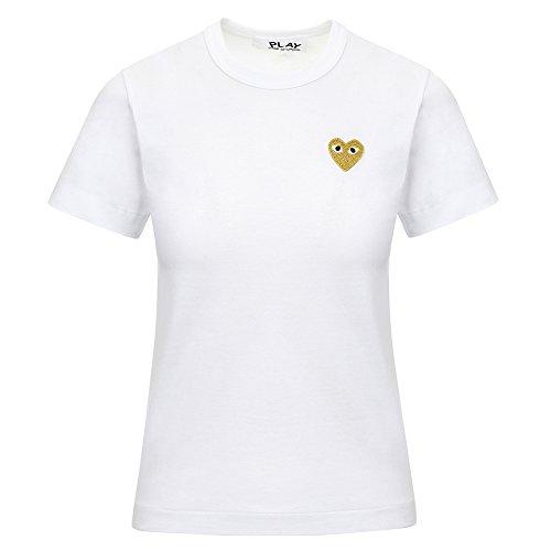 306c32f1153e Comme des Garcons Play Women s Gold Heart Patch T-Shirt P1T215 chic ...