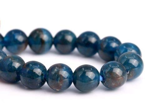 4mm Genuine Natural Blue Apatite Grade A Round Gemstone Loose Beads 7.5'' Crafting Key Chain Bracelet Necklace Jewelry Accessories Pendants ()