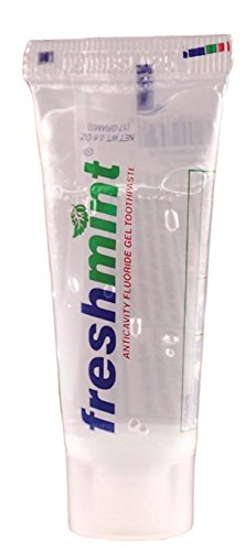 New World Imports CG6 Freshmint Anticavity Fluoride Gel Toothpaste, .6 oz, Clear (Pack of 720)