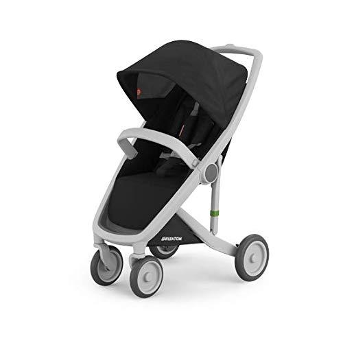Greentom Classic Baby Stroller Ultra Lightweight Travel System (Grey Frame, Black)