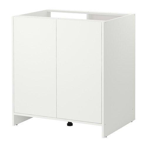 IKEA Unterschrank mit Türen weiß Küchenschrank Spülschrank Spülenschrank
