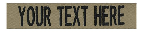 Custom Name Tapes for Tact. Caps OVER 50 fabrics to choose from! Made in the USA! SHIPS UNDER 24 HOURS! Coyote Tan 4