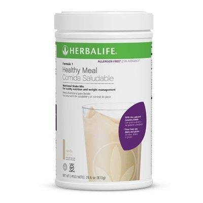 Herbalife Formule 1 bougé - * sans allergène (gratuit à partir de soja, produits laitiers et sans gluten) Vanilla traîneau 810g