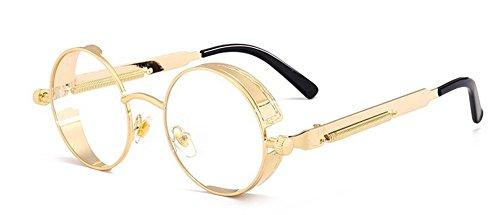 de rond soleil métallique polarisées lunettes cercle du vintage inspirées retro style en Lennon OBqad