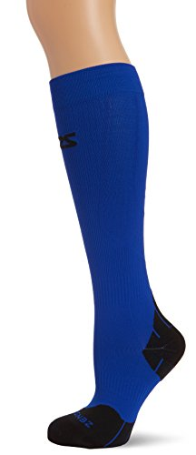 (Zensah Tech+ Compression Socks, Electric Blue, Small (Men's 4-6.5, Women's 5-8) )