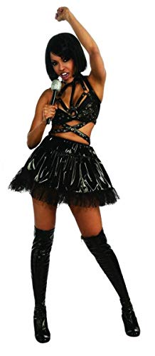 Secret Wishes Womens Rihanna Vinyl Costume, Black, Small