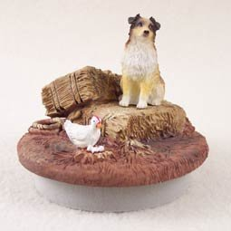Conversation Concepts Miniature Australian Shepherd Brown w/Docked Tail Candle Topper Tiny One ''A Day on the Farm''