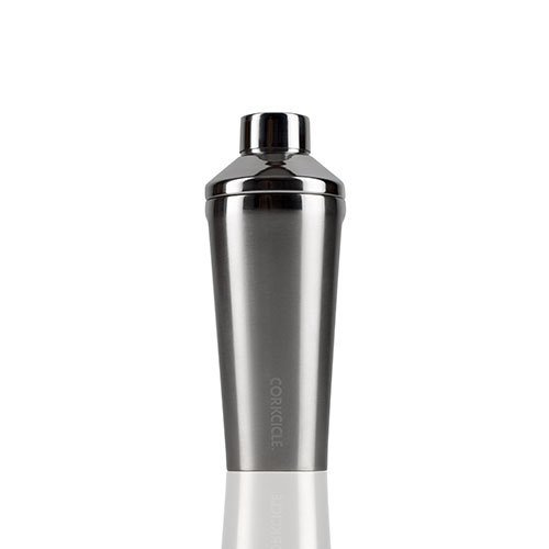 Corkcicle Shaker-Triple Insulated Sweat-Proof bar & Cocktail Shaker, 16 oz, Brushed Steel