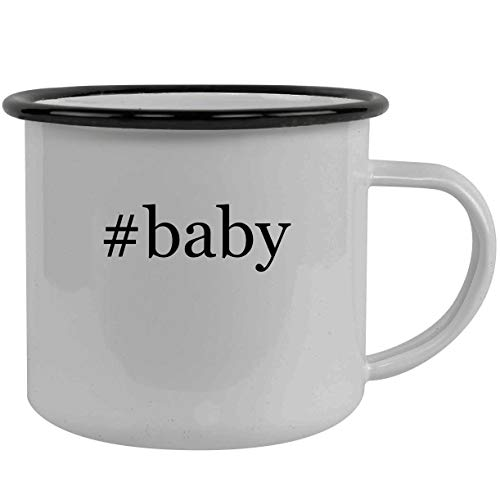#baby - Stainless Steel Hashtag 12oz Camping Mug, Black