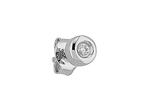 Birgie Diamants et Bijoux - Boucles d'Oreilles Diamant Pour Hommes 0.04 Carat-Femme- or Blanc 201E0043