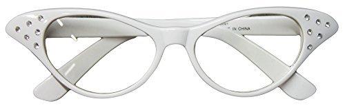 Flirting with the 50's Rhinestone Cat Eye Glasses - Eyeglasses 1950