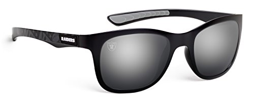 Officially Licensed NFL Sunglasses, Oakland Raiders, 3D Logo on Temple - 100% UVA, UVB & UVC Protection