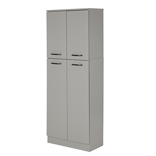 South Shore Axess 4-Shelf Pantry Storage, Soft Gray by South Shore (Image #8)