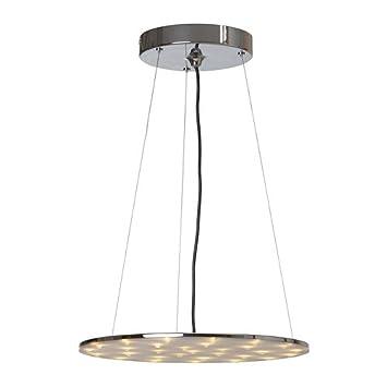 IKEA Klor - Lámpara de techo LED, niquelado-: Amazon.es: Hogar
