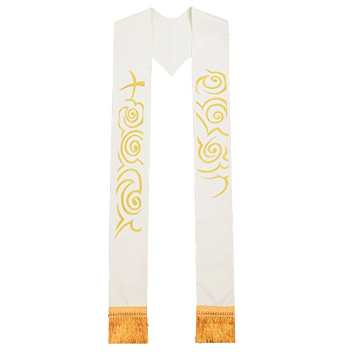 Like Cross (BLESSUME Priest Stole Chasuble Cope Vestments Clergy Cross Cloud-like Embroidery Stole)