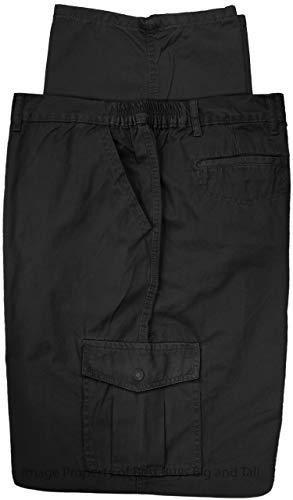 - Full Blue Big & Tall Men's Cargo Pants 100% Cotton 54 X 30 Black #562A