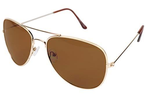 Aviator Sunglasses For Men Medium Retro Non Prescription UV-400 Glasses ()