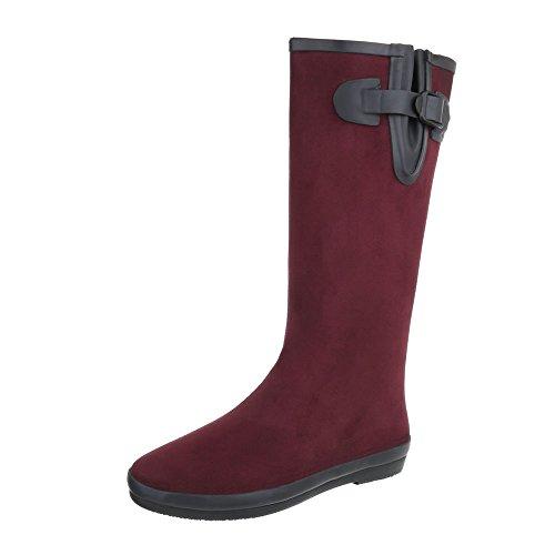 Ital-Design WoMen Rubber Boots Bordeaux