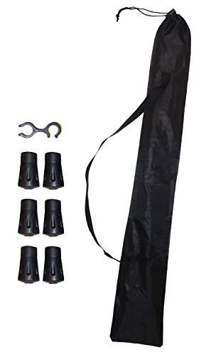 O&W Security Tas voor 2 Nordic Walking stokken met draagriem, zeer licht, waterdicht, zwart, 1 koppelingsbevestiging + 6…