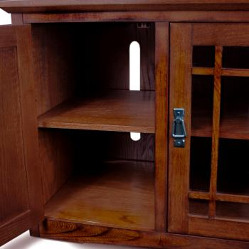 leick riley holliday mission tall tv stand 50 inch oak new free shipping ebay. Black Bedroom Furniture Sets. Home Design Ideas