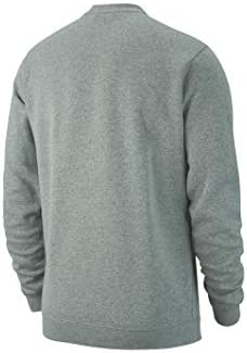 Nike Herren M CRW FLC TM CLUB19 Sweatshirt, dk Grey Heather/(Black), S